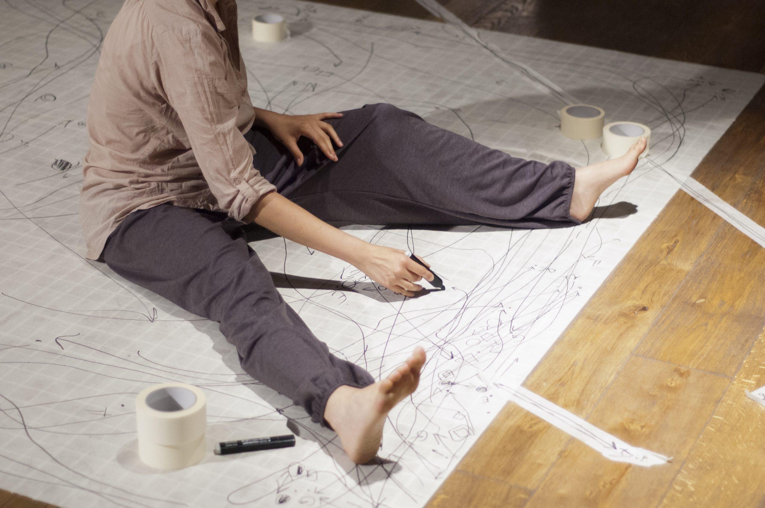 Giulia-Gallo-Recording-Maps-performance-Galleria-Allegretti-Contemporanea-2011