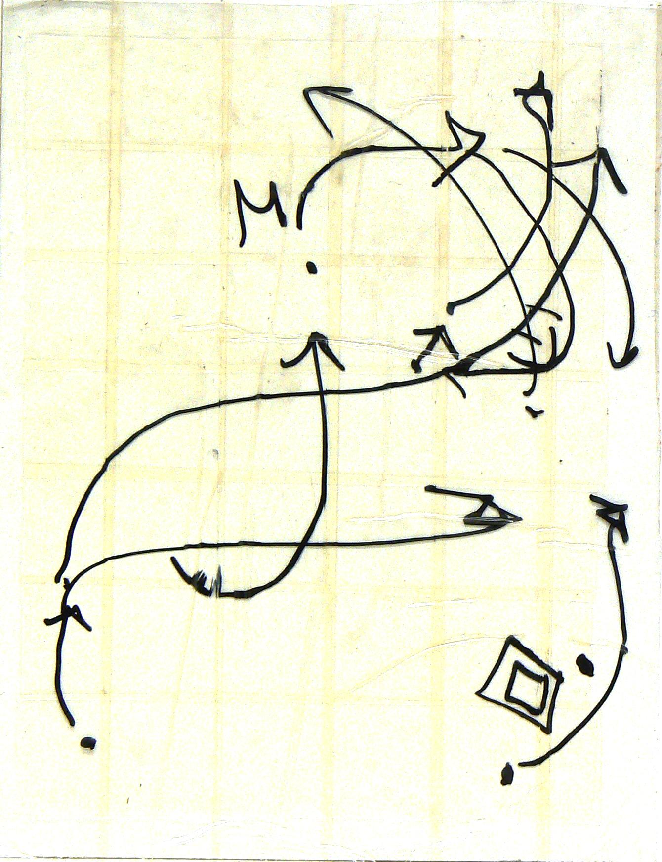 Giulia-Gallo-Remembering-Maps-100-fogli-pennarello-indelebile-su-nastro-adesivo-21x29cm-2012-Remembering-Maps-100-sheets-marker-on-paper-tape-2